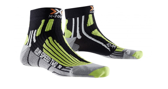 X-Socks Run Speed Two Short Skarpetki do biegania zielony/czarny